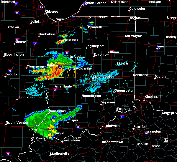 Radar Image for Severe Thunderstorms near Crawfordsville, IN at 8/18/2019 6:08 PM EDT