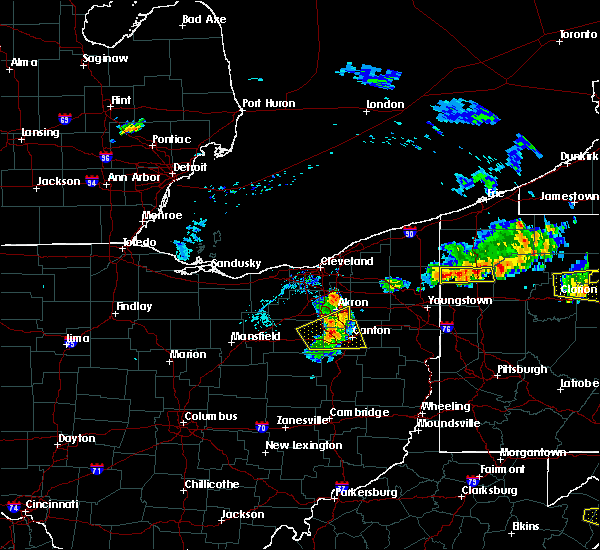 Radar Image for Severe Thunderstorms near Meyers Lake, OH at 8/18/2019 6:07 PM EDT