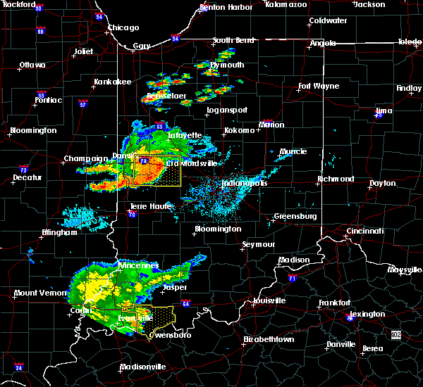 Radar Image for Severe Thunderstorms near Whitestown, IN at 8/18/2019 6:16 PM EDT