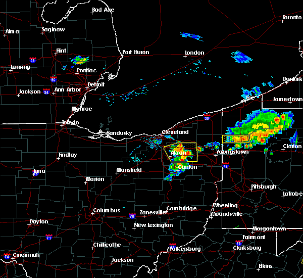Radar Image for Severe Thunderstorms near South Canal, OH at 8/18/2019 6:32 PM EDT