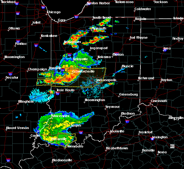 Radar Image for Severe Thunderstorms near Clayton, IN at 8/18/2019 6:38 PM EDT