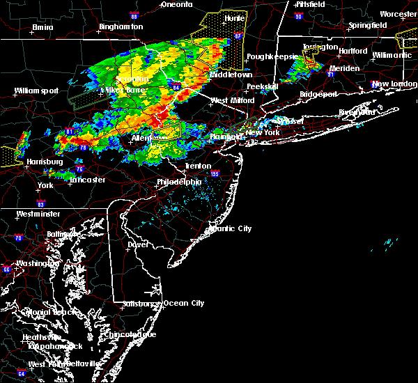 Radar Image for Severe Thunderstorms near Califon, NJ at 8/18/2019 6:43 PM EDT