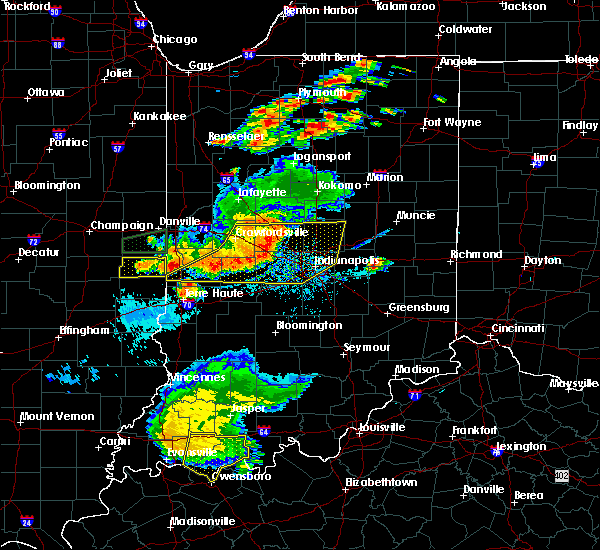Radar Image for Severe Thunderstorms near Indianapolis, IN at 8/18/2019 6:58 PM EDT
