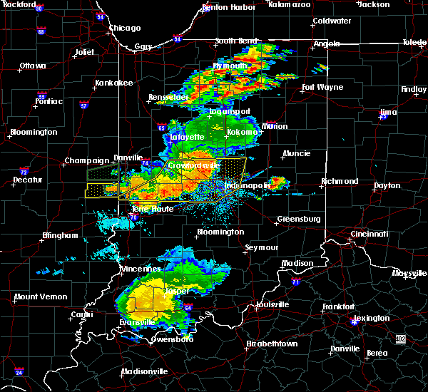Radar Image for Severe Thunderstorms near New Market, IN at 8/18/2019 7:14 PM EDT