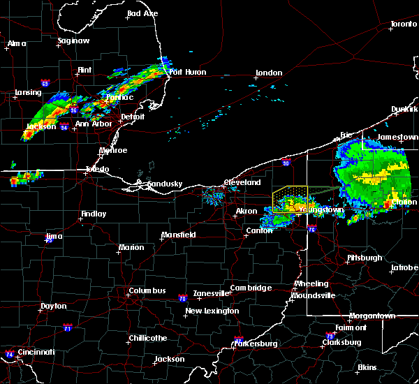 Radar Image for Severe Thunderstorms near Girard, OH at 8/18/2019 7:31 PM EDT