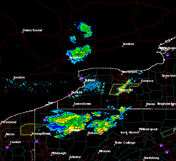 Radar Image for Severe Thunderstorms near Prattsburgh, NY at 8/18/2019 7:37 PM EDT