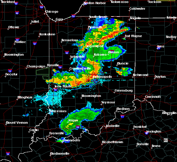Radar Image for Severe Thunderstorms near New Castle, IN at 8/18/2019 7:45 PM EDT