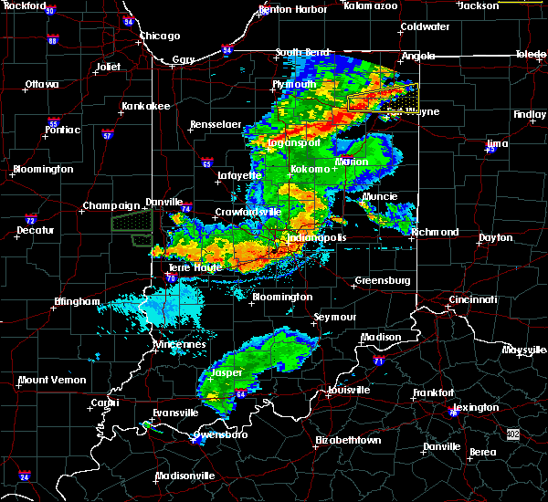 Radar Image for Severe Thunderstorms near Carthage, IN at 8/18/2019 8:03 PM EDT