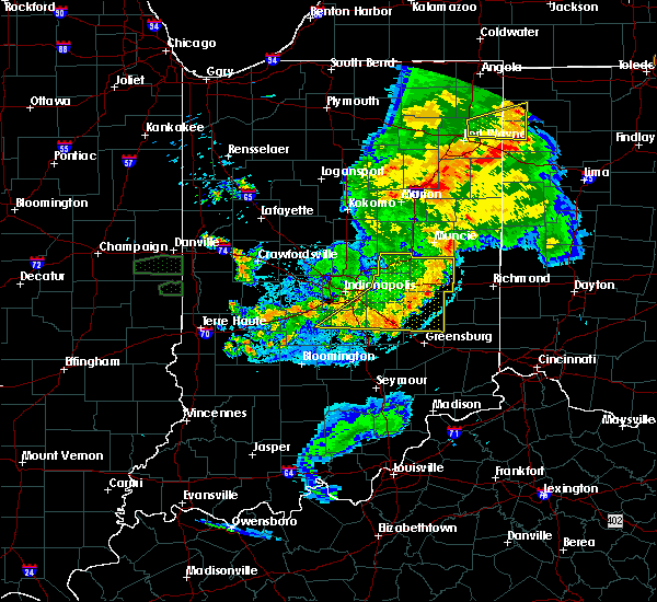 Radar Image for Severe Thunderstorms near Carthage, IN at 8/18/2019 8:50 PM EDT