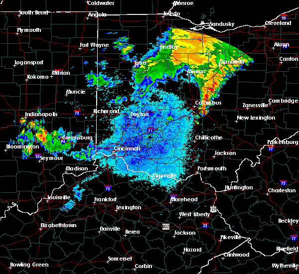 Radar Image for Severe Thunderstorms near St. Louisville, OH at 8/19/2019 12:08 AM EDT