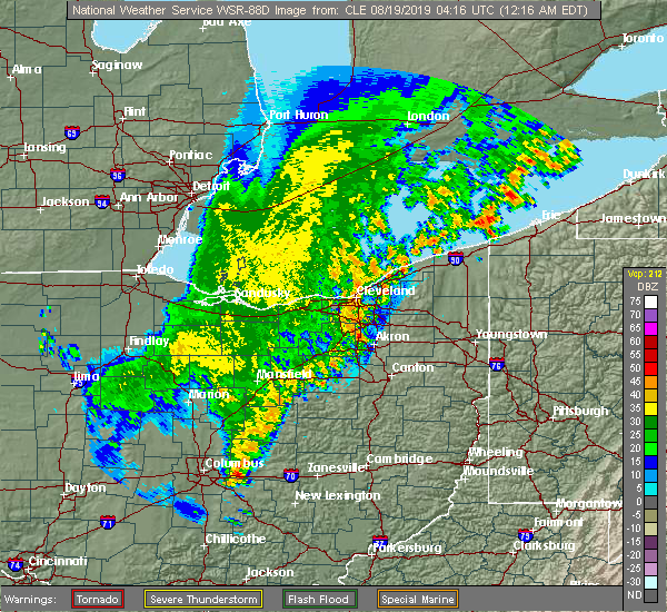 Radar Image for Severe Thunderstorms near Howard, OH at 8/19/2019 12:22 AM EDT