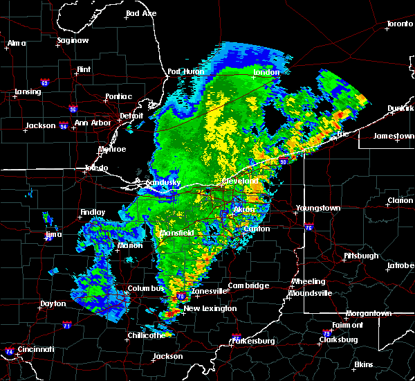 Radar Image for Severe Thunderstorms near Plainfield, OH at 8/19/2019 12:57 AM EDT