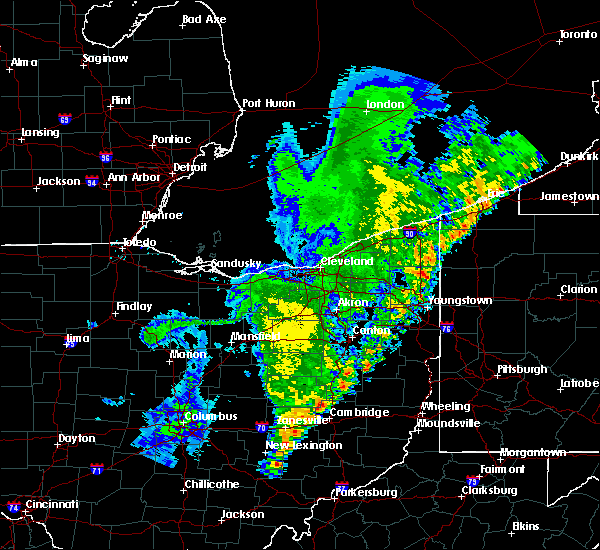 Radar Image for Severe Thunderstorms near Plainfield, OH at 8/19/2019 1:25 AM EDT