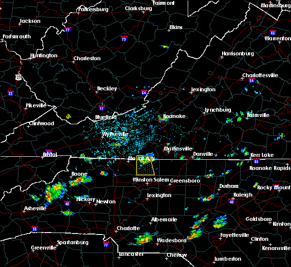 Radar Image for Severe Thunderstorms near Tobaccoville, NC at 8/19/2019 1:53 PM EDT