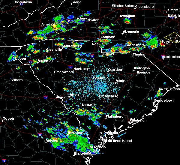 Radar Image for Severe Thunderstorms near Winnsboro, SC at 8/19/2019 3:36 PM EDT