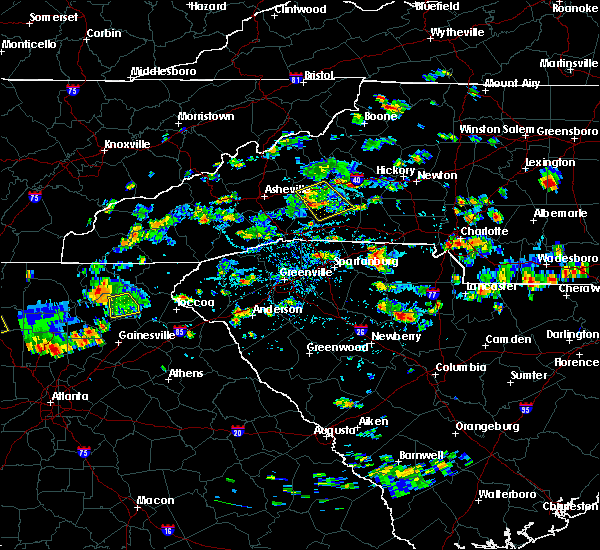 Radar Image for Severe Thunderstorms near Valley Hill, NC at 8/19/2019 3:43 PM EDT