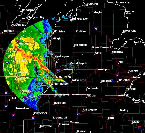 Radar Image for Severe Thunderstorms near Allegan, MI at 6/22/2015 12:13 PM EDT