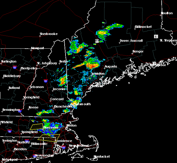 Radar Image for Severe Thunderstorms near Farmingdale, ME at 8/19/2019 4:16 PM EDT