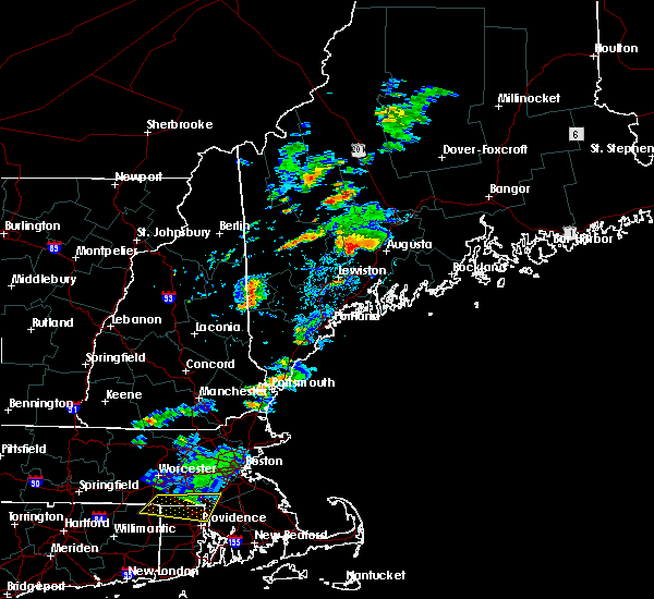 Radar Image for Severe Thunderstorms near Farmingdale, ME at 8/19/2019 4:29 PM EDT