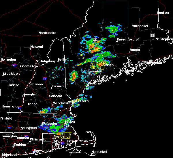 Radar Image for Severe Thunderstorms near Augusta, ME at 8/19/2019 4:58 PM EDT