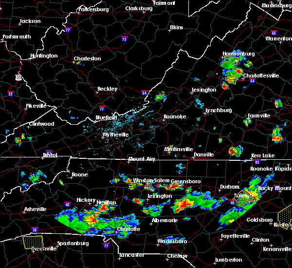 Radar Image for Severe Thunderstorms near High Point, NC at 8/19/2019 5:36 PM EDT