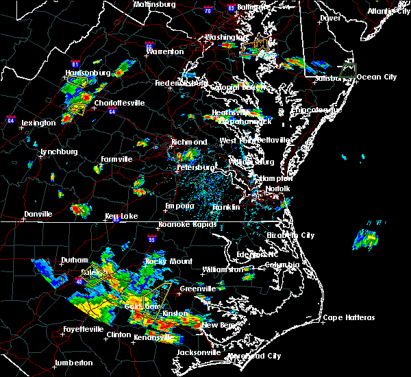 Radar Image for Severe Thunderstorms near Heathsville, VA at 8/19/2019 5:41 PM EDT