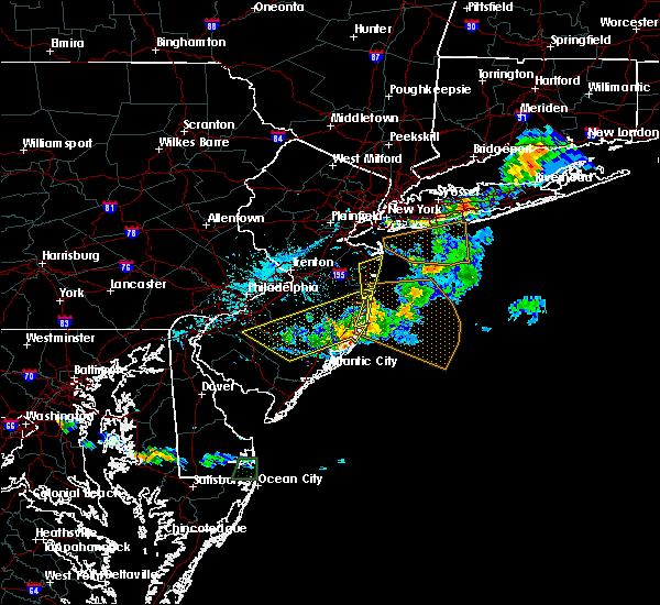 Radar Image for Severe Thunderstorms near Silver Ridge, NJ at 8/19/2019 5:53 PM EDT