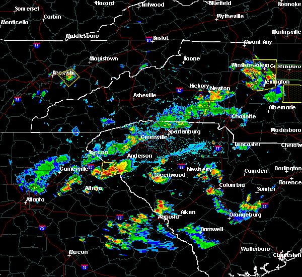 Radar Image for Severe Thunderstorms near Gumlog, GA at 8/19/2019 6:17 PM EDT