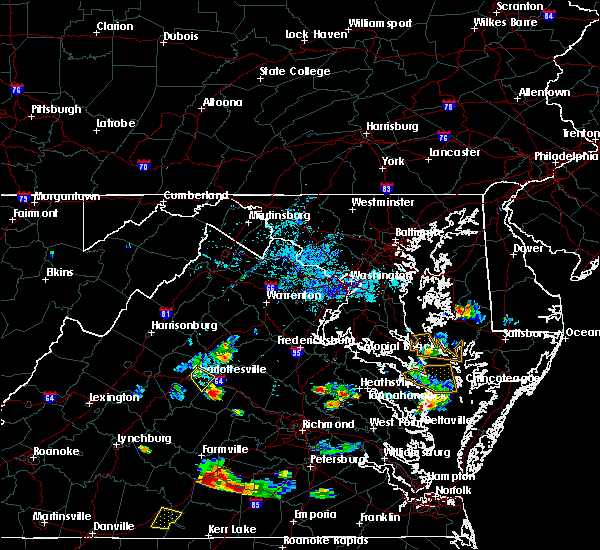 Radar Image for Severe Thunderstorms near Orange, VA at 8/19/2019 6:49 PM EDT
