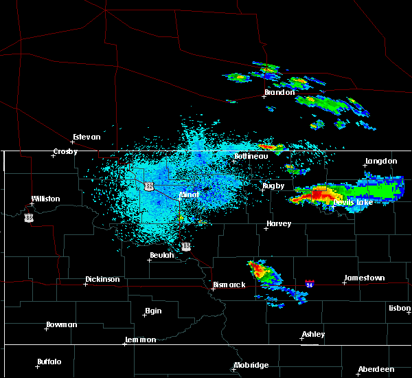 Radar Image for Severe Thunderstorms near Brinsmade, ND at 8/20/2019 12:03 AM CDT