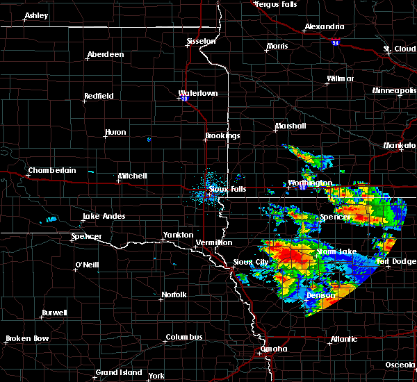 Radar Image for Severe Thunderstorms near Pierson, IA at 8/20/2019 2:58 AM CDT