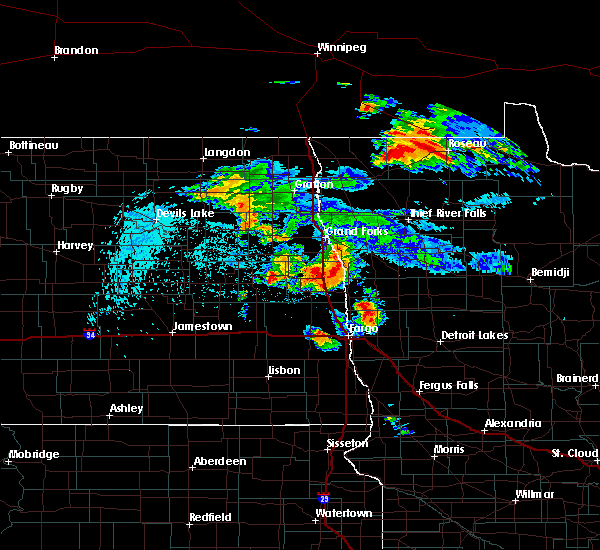 Radar Image for Severe Thunderstorms near Felton, MN at 8/20/2019 3:30 AM CDT