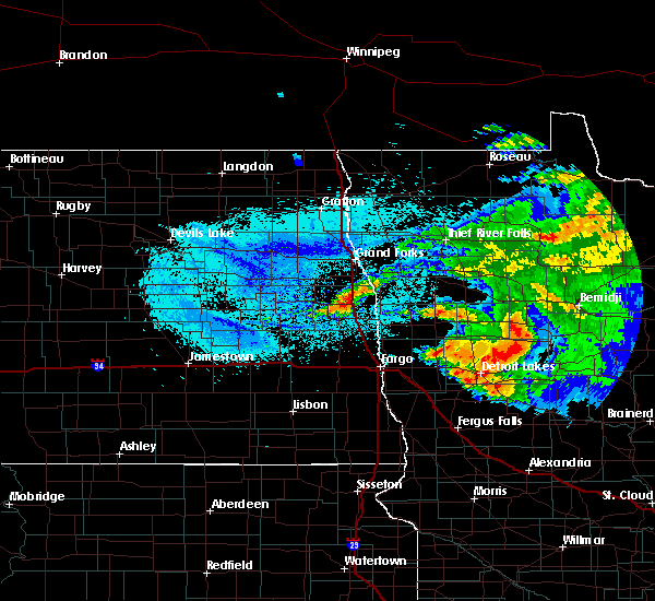 Radar Image for Severe Thunderstorms near Pine Point, MN at 8/20/2019 5:17 AM CDT