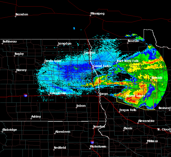 Radar Image for Severe Thunderstorms near Pine Point, MN at 8/20/2019 5:35 AM CDT