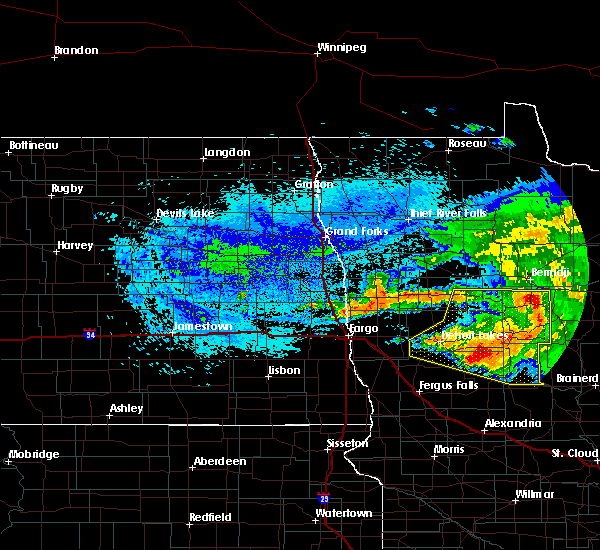 Radar Image for Severe Thunderstorms near Pine Point, MN at 8/20/2019 5:50 AM CDT