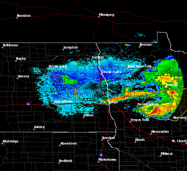 Radar Image for Severe Thunderstorms near Osage, MN at 8/20/2019 6:06 AM CDT