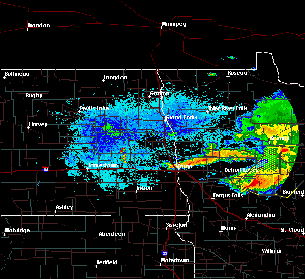 Radar Image for Severe Thunderstorms near Osage, MN at 8/20/2019 6:13 AM CDT