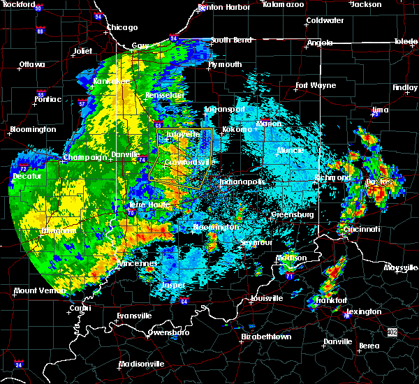 Radar Image for Severe Thunderstorms near Indianapolis, IN at 8/20/2019 2:26 PM EDT