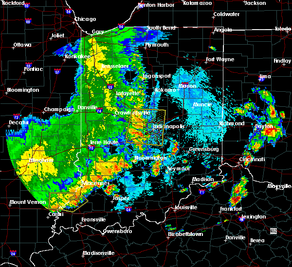 Radar Image for Severe Thunderstorms near Whitestown, IN at 8/20/2019 2:49 PM EDT