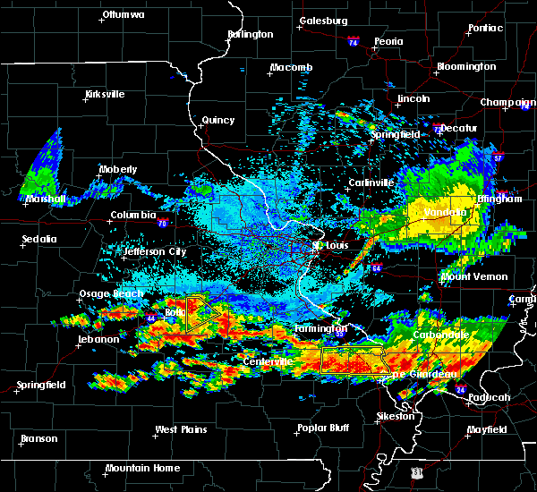 Radar Image for Severe Thunderstorms near St. James, MO at 8/20/2019 3:18 PM CDT