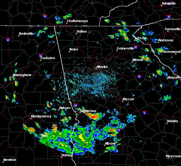 Radar Image for Severe Thunderstorms near Columbus, GA at 8/20/2019 4:34 PM EDT