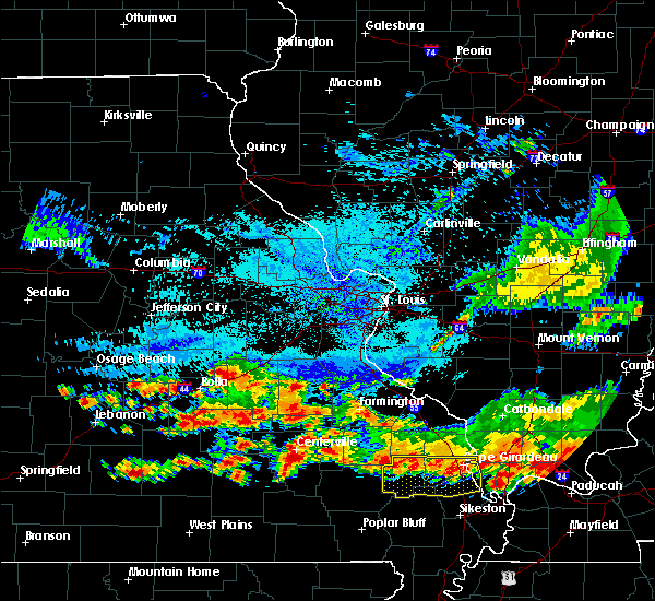 Radar Image for Severe Thunderstorms near St. James, MO at 8/20/2019 3:38 PM CDT