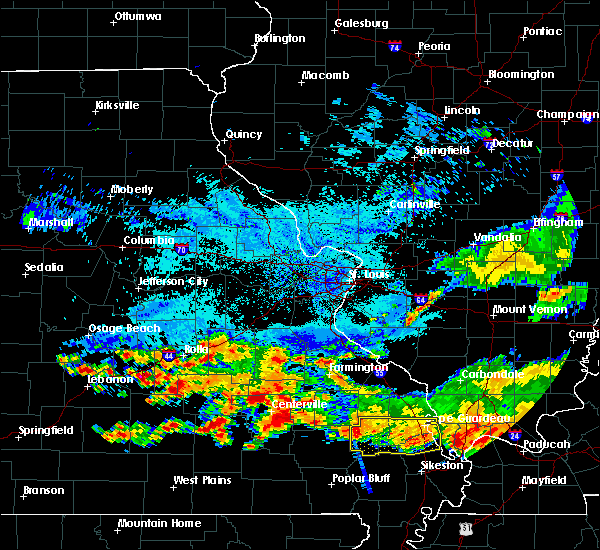 Radar Image for Severe Thunderstorms near Des Arc, MO at 8/20/2019 3:50 PM CDT