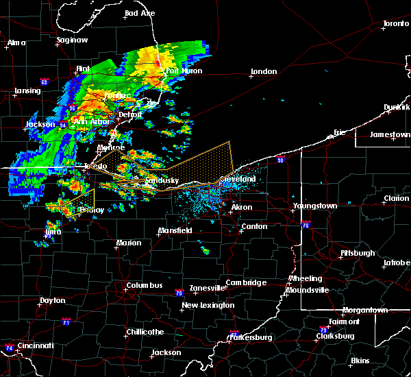 Radar Image for Severe Thunderstorms near Woodville, OH at 6/22/2015 4:27 PM EDT