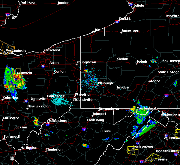 Radar Image for Severe Thunderstorms near Wampum, PA at 8/20/2019 5:36 PM EDT