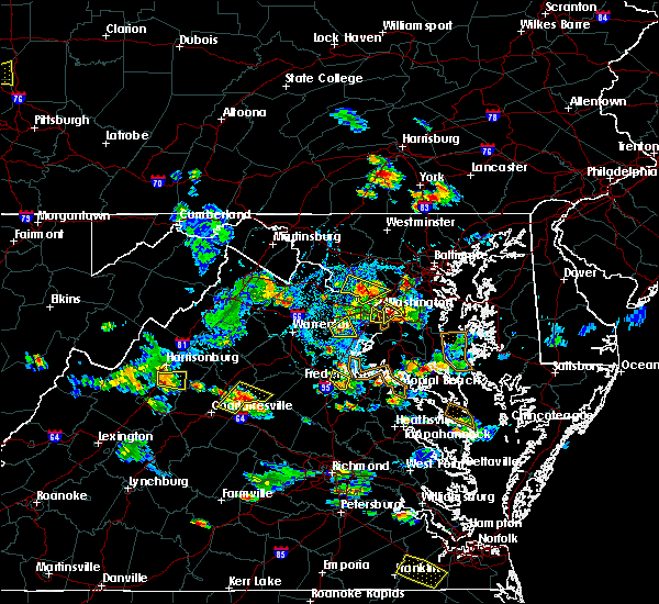 Radar Image for Severe Thunderstorms near Golden Beach, MD at 8/20/2019 5:49 PM EDT