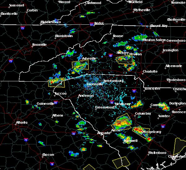 Radar Image for Severe Thunderstorms near Horse Shoe, NC at 6/22/2015 4:43 PM EDT