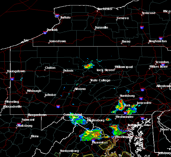 Radar Image for Severe Thunderstorms near Rutherford, PA at 8/20/2019 6:37 PM EDT