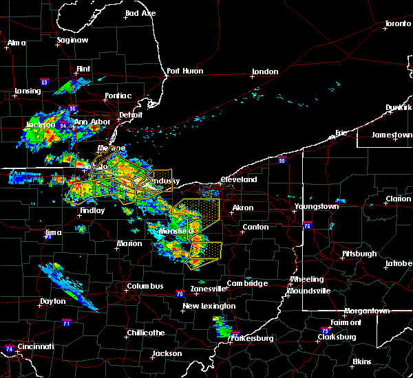 Radar Image for Severe Thunderstorms near Baltic, OH at 8/20/2019 6:39 PM EDT