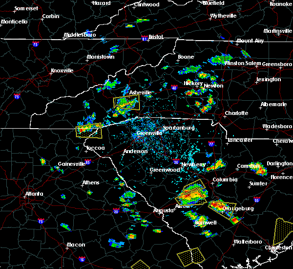 Radar Image for Severe Thunderstorms near Newton, NC at 6/22/2015 4:42 PM EDT